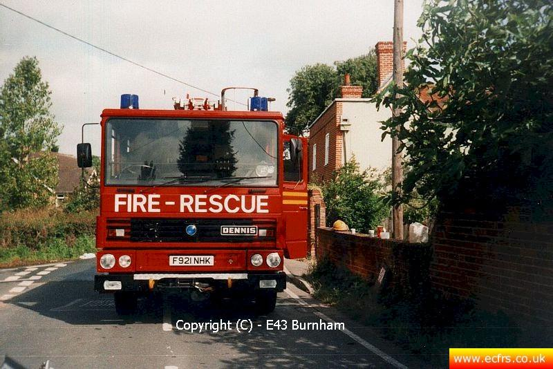 Essex FRS Dennis RS F921 NHK - Picture courtesy of Burnham Fire Station