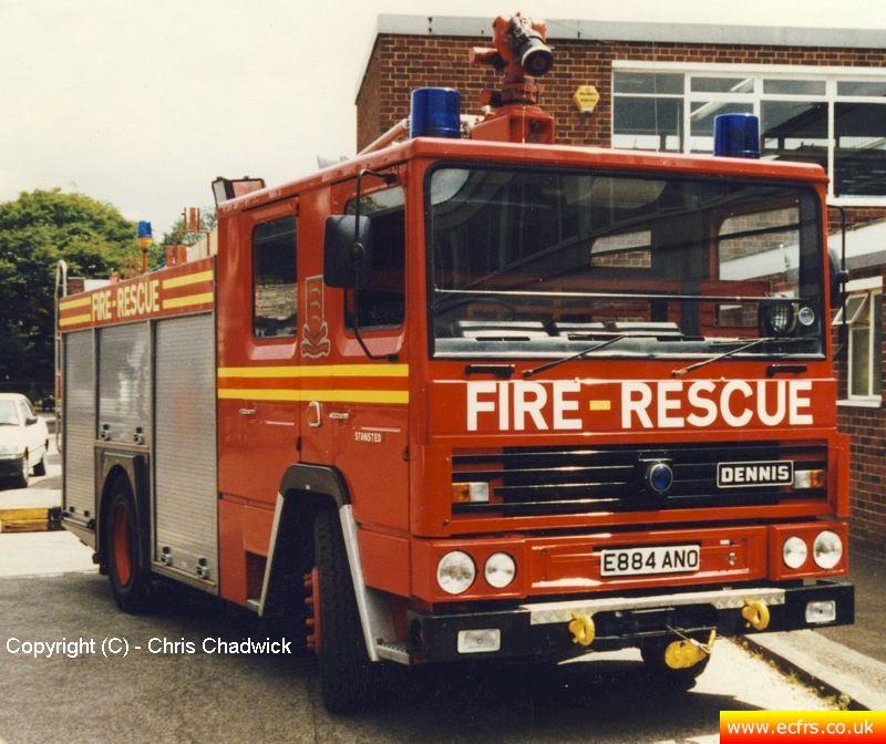 Essex FRS Dennis RS E884 ANO at the ECFRS Workshops - picture courtesy of Chris Chadwick