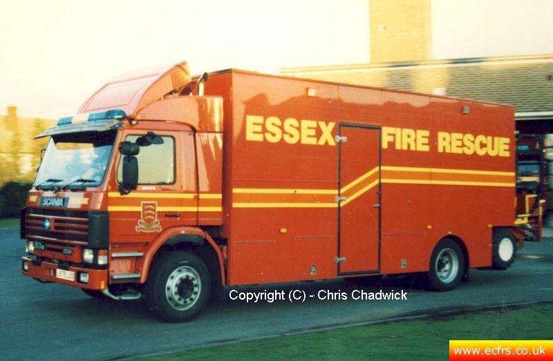 Essex FRS Scania 93M 250 L675 LOO Grays Fire Station - Picture courtesy of Chris Chadwick