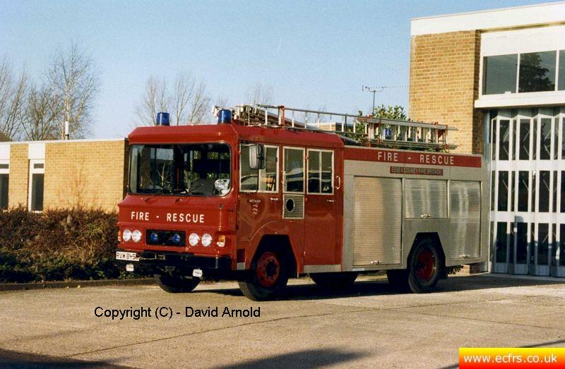 Essex FB Bedford TKG RVW 845W at Witham Fire Station - Picture courtesy of David Arnold