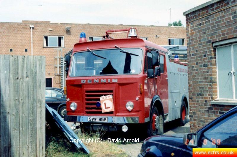 Essex FB Dennis DP SVW 195R (VWC 262L)  on the 24th of August 1989 - Picture courtesy of David Arnold