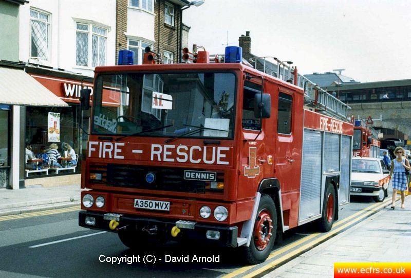 Essex FB Dennis RS A350 MVX at an incident in Chelmsford - Picture courtesy of David Arnold