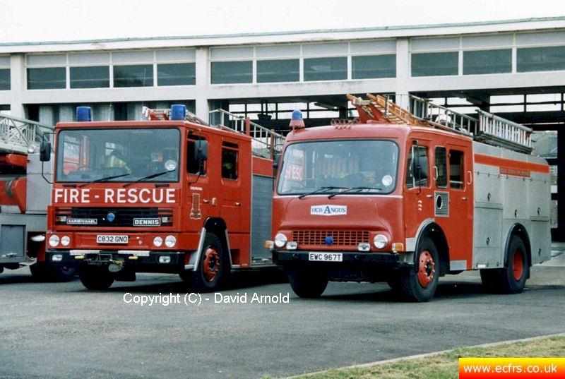 Essex FB Dennis RS C832 GNO at Chelmsford Fire Station - Picture courtesy of David Arnold