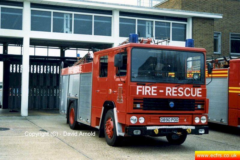 Essex FB Dennis RS D890 POO at Harlow Fire Station - Picture courtesy of David Arnold