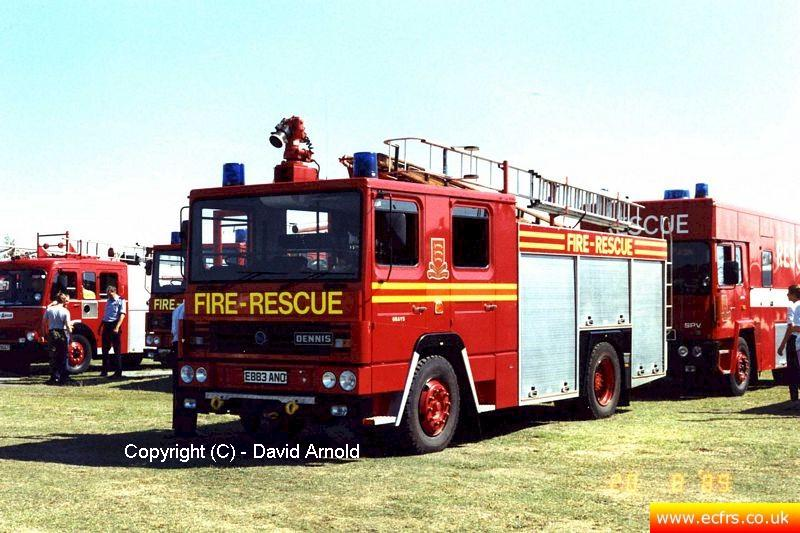 Essex FB Dennis RS E883 ANO on the 20th of August 1989 - Picture courtesy of David Arnold