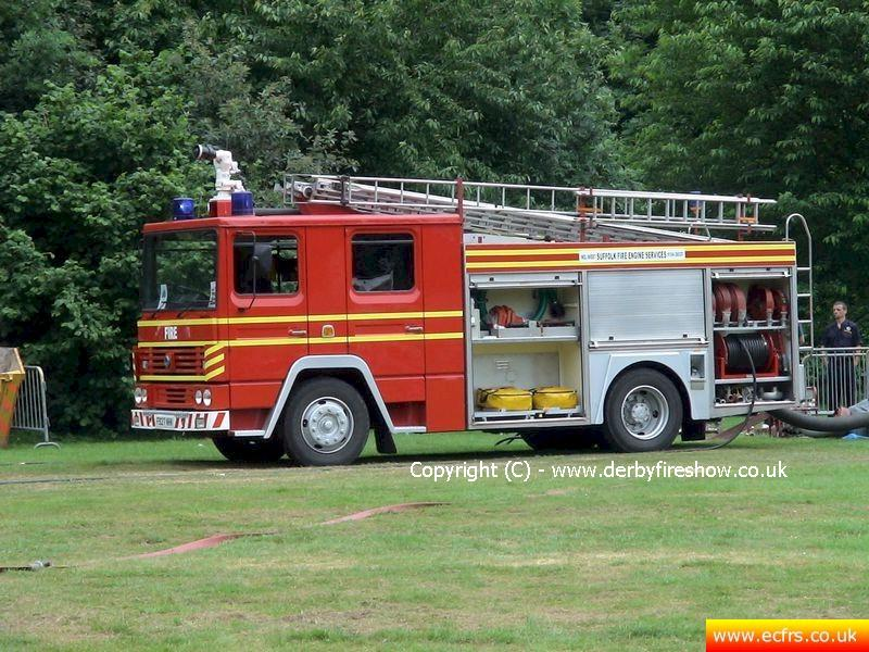 Essex FRS Dennis RS F927 NHK on the 18th of June 2006 at the Derby Fire Show - Picture courtesy of John at derbyfireshow.co.uk