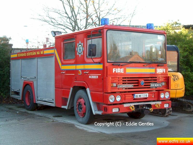 Essex FRS Dennis RS C835 GNO on the 12th of November 2005 - Picture courtesy of Eddie Gentles