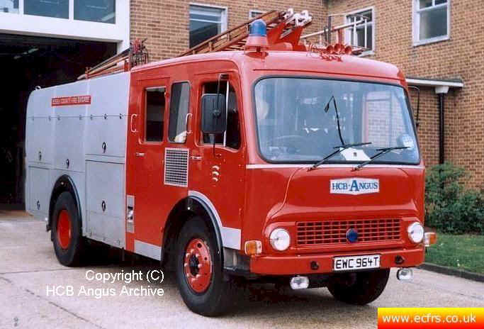 Essex FRS Bedford TK EWC 964T at Grays Fire Station - Picture courtesy of HCB Angus