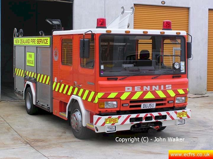 Essex FRS Dennis Rapier K390 DOO now stationed in New Zealand - Picture courtesy of John Walker
