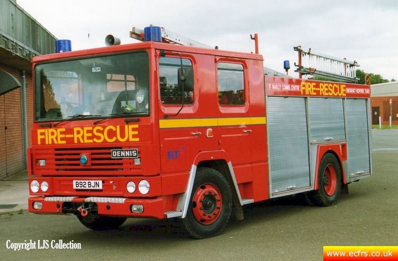 Essex FRS Dennis RS B92 BJN at BT Madley - picture courtesy of Lester Solway