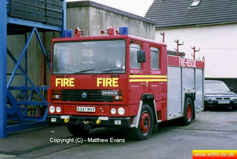 Essex FRS Dennis RS A347 MVX at Braintree Fire Station - picture courtesy of Matthew Evans