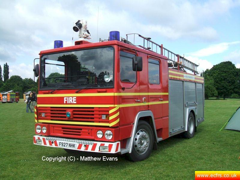 Essex FRS Dennis RS F927 NHK on the 14th of June 2008 at the Dervy Fire Show - picture courtesy of Matthew Evans
