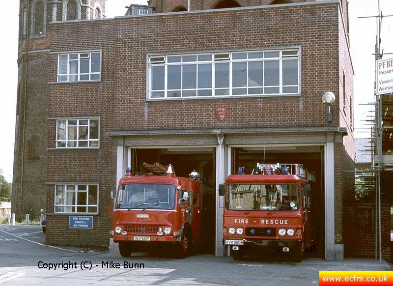 Braintree Fire Station circa 1982 - picture courtesy of Mike Bunn