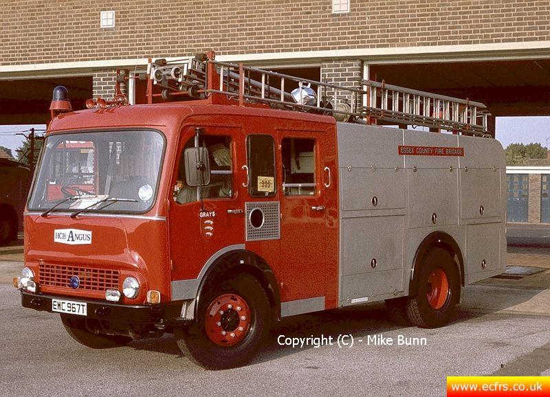 Essex FB Bedford TKG EWC 967T at Grays Fire Station - Picture courtesy of Mike Bunn
