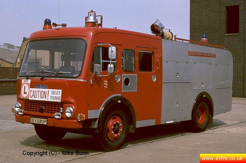 Essex FB Bedford TK OEV 680P at Southend Fire Station - Picture courtesy of Mike Bunn