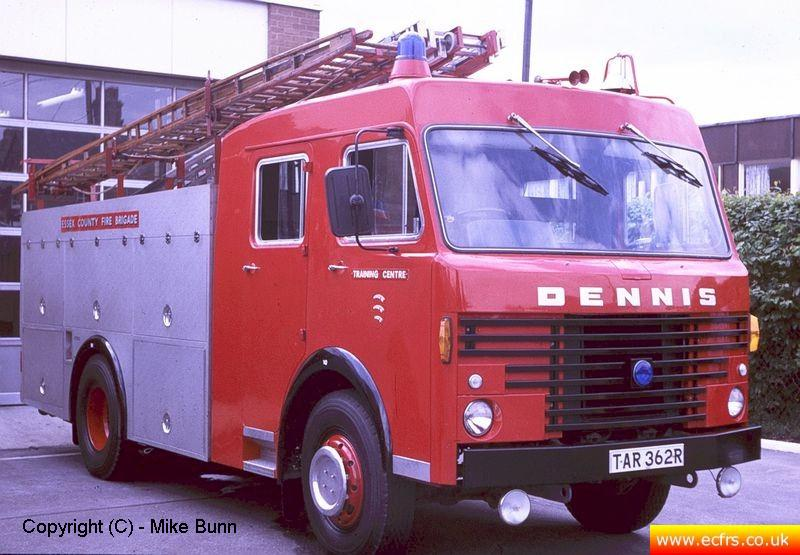 Essex FB Dennis R61 TAR 362R at Witham Training Centre - Picture courtesy of Mike Bunn
