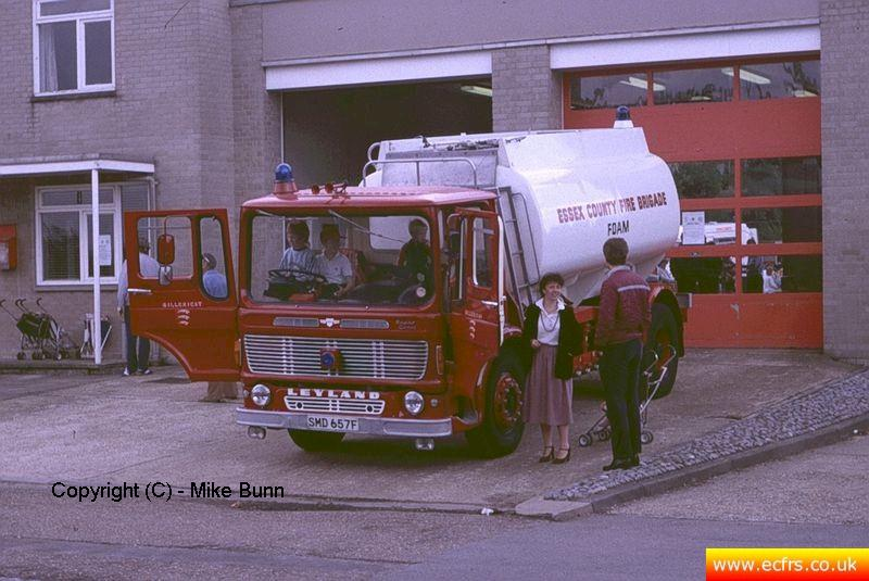 Essex FB Leyland Comet SMD 657F at Billericay Fire Station - Picture courtesy of Mike Bunn