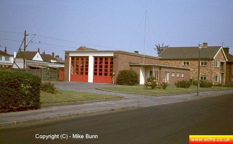 Frinton Fire Station circa 1984 - picture courtesy of Mike Bunn