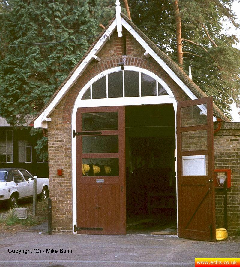 Old Harlow Fire Station circa 1983 - picture courtesy of Mike Bunn