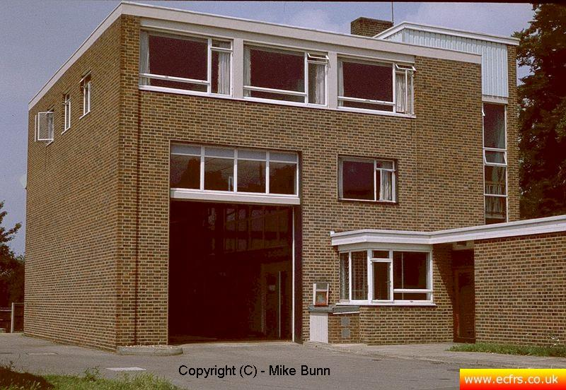 Ongar Fire Station circa 1983 - picture courtesy of Mike Bunn
