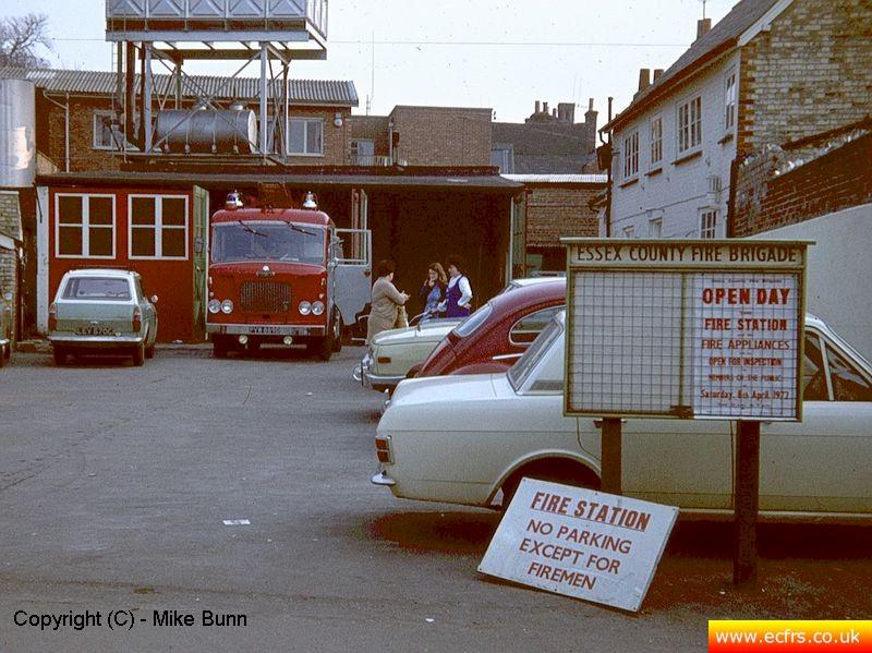 Former Saffron Walden Fire Station circa 1972 - Picture courtesy of Mike Bunn