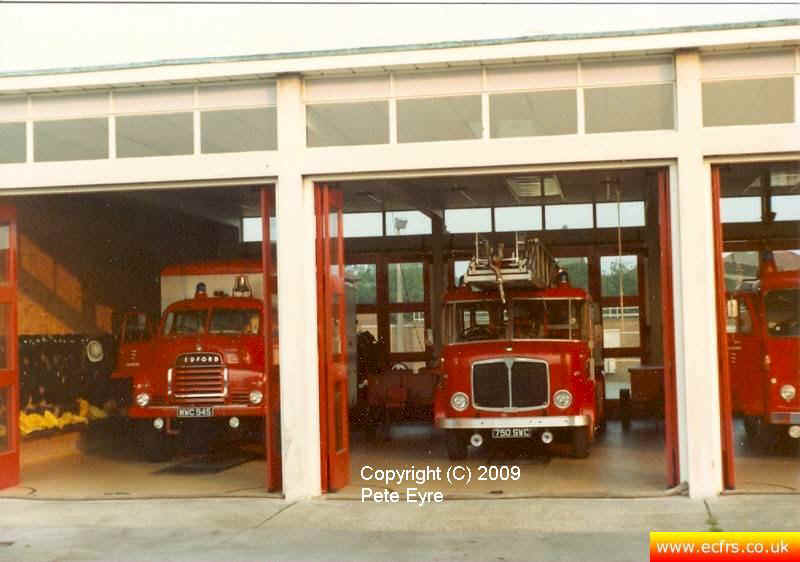 Essex FB AEC Mercury 750 SWC at Chelmsford Fire Station - Picture courtesy of ECFRS Museum & Pete Eyre