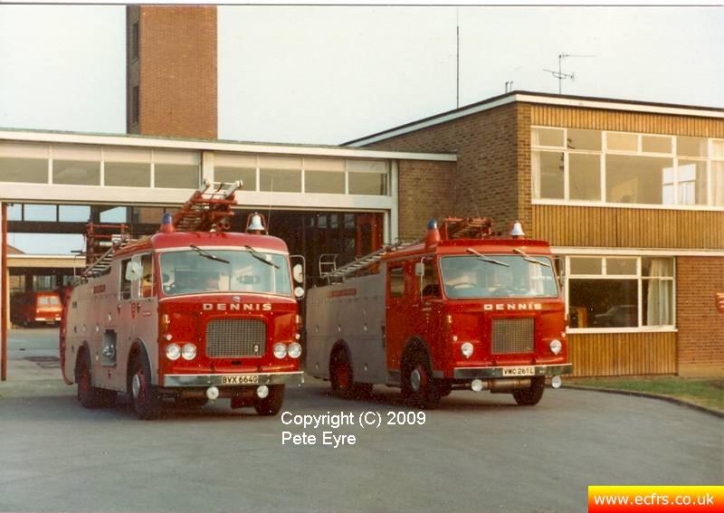 Essex FB Dennis DJ VWC 261L at Chelmsford Fire Station - Picture courtesy of ECFRS Museum & Pete Eyre