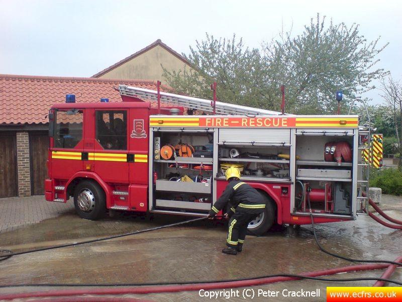 Essex FRS Dennis Sabre N465 BVW on the 27th of April 2007 at an incident in Harlow - Picture courtesy of Peter Cracknell